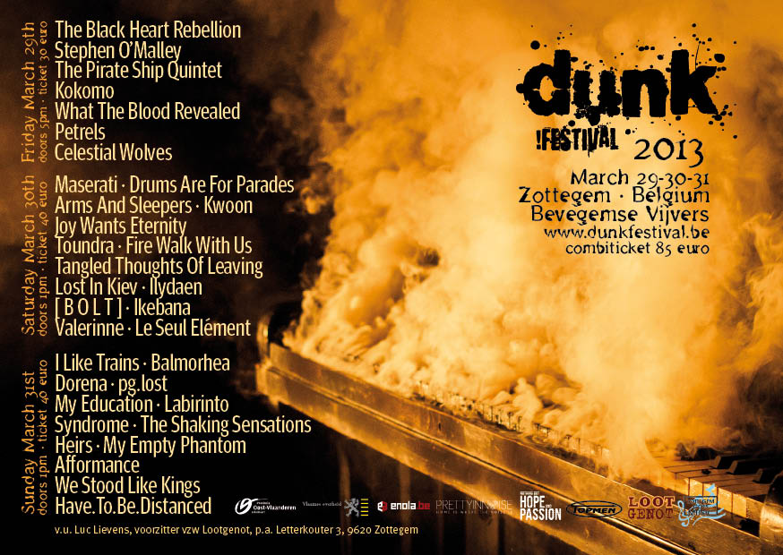 Stephen O'Malley (solo) @ Dunk Festival / Fuifzaal Bevegemse Vijvers