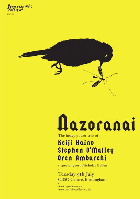 NAZORANAI (Oren Ambarchi, Keiji Haino, Stephen O'Malley trio) @ CBSO Centre (City of Birmingham Symphony Orchestra)