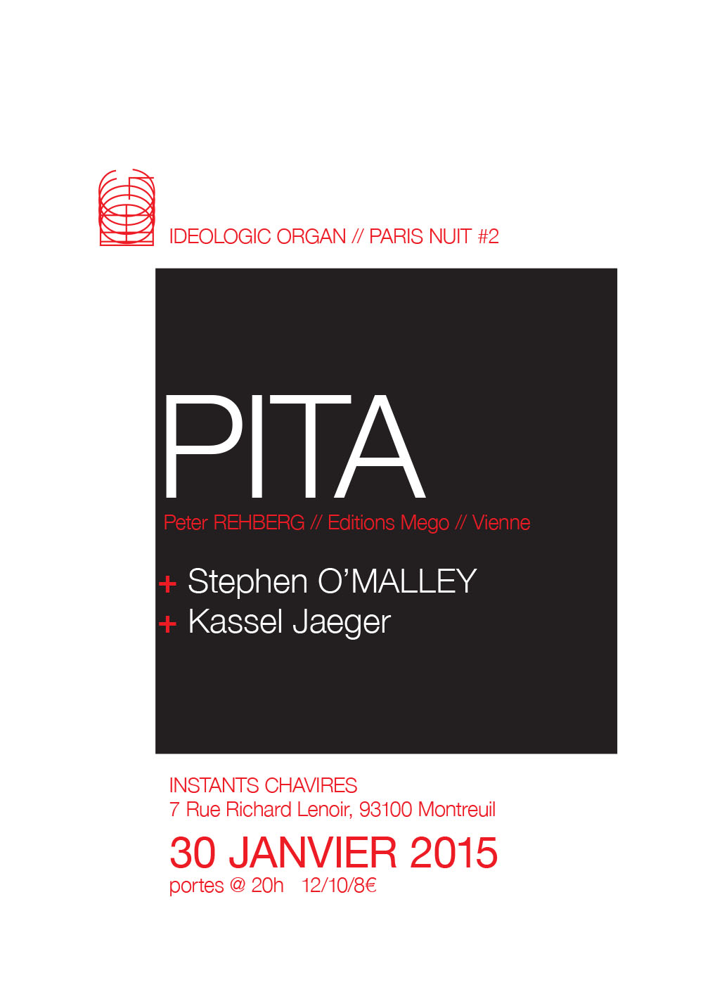 Stephen O'Malley (solo) @ Ideologic Organ night #2 / Instants Chavirés