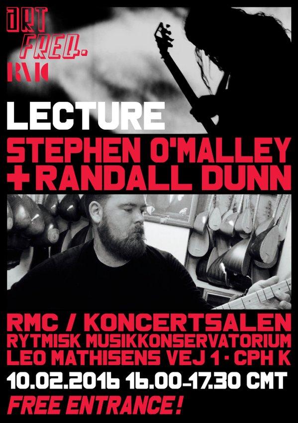 Artist Talk: Stephen O'Malley & Randall Dunn (US) @ Rhythmic Music Conservatory