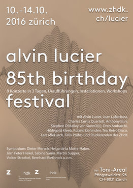 "Stephen O'Malley & Oren Ambarchi ""Hannover"" @ Alvin Lucier 85th birthday Fest / ZHdK Grand Concert Hall"