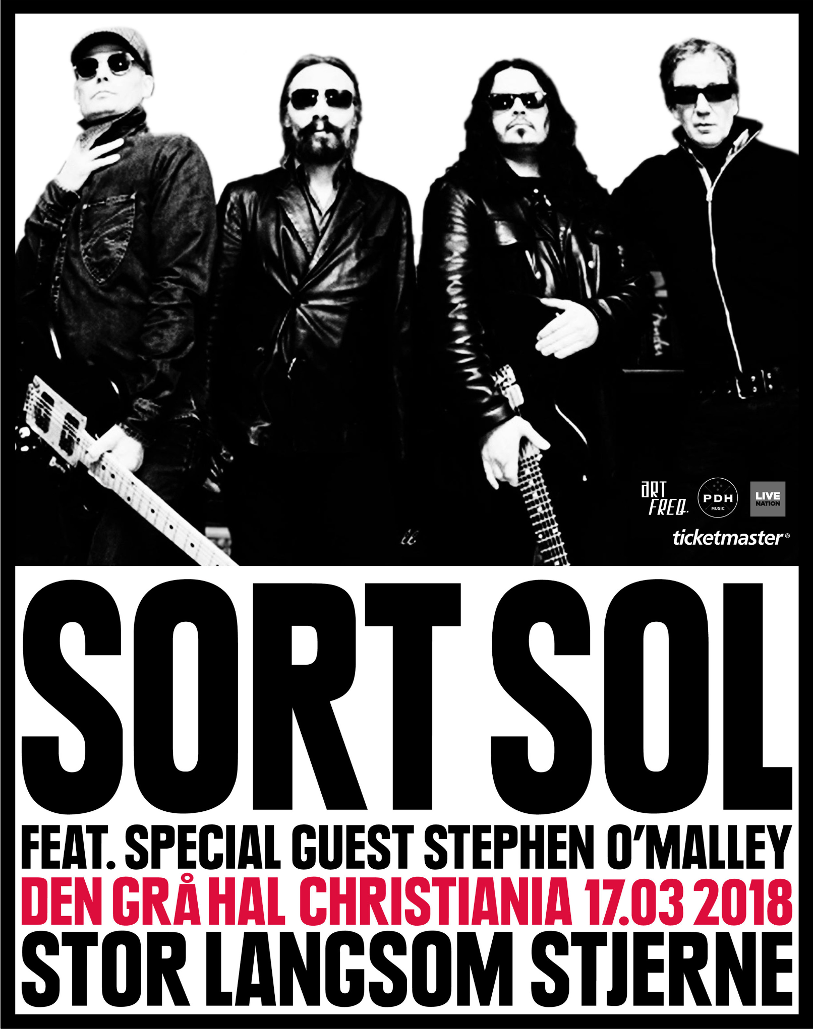 Sort Sol feat. Stephen O'Malley @ Den Gra Hal Christiania
