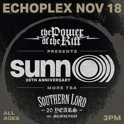 Sunn O))) @ Power of The Riff festival / Echoplex