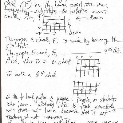 Fahey open C notes