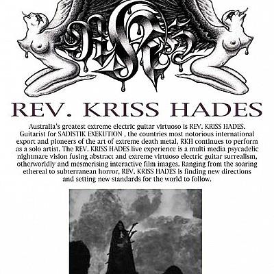 Rev. Kriss Hades Sat 28 Jan Gaelic Theatre