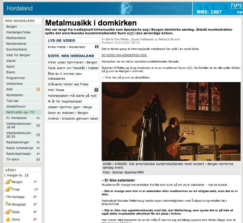 O))) vs NRK tv