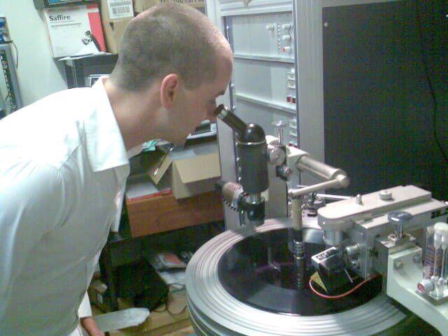 dub plates of Gladstone being cut