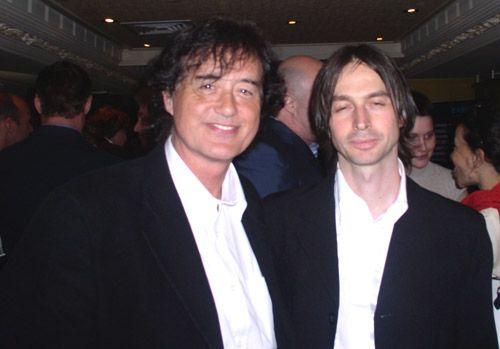 Jimmy Page (with KTL booking agent Danilo Pellegrinelli)