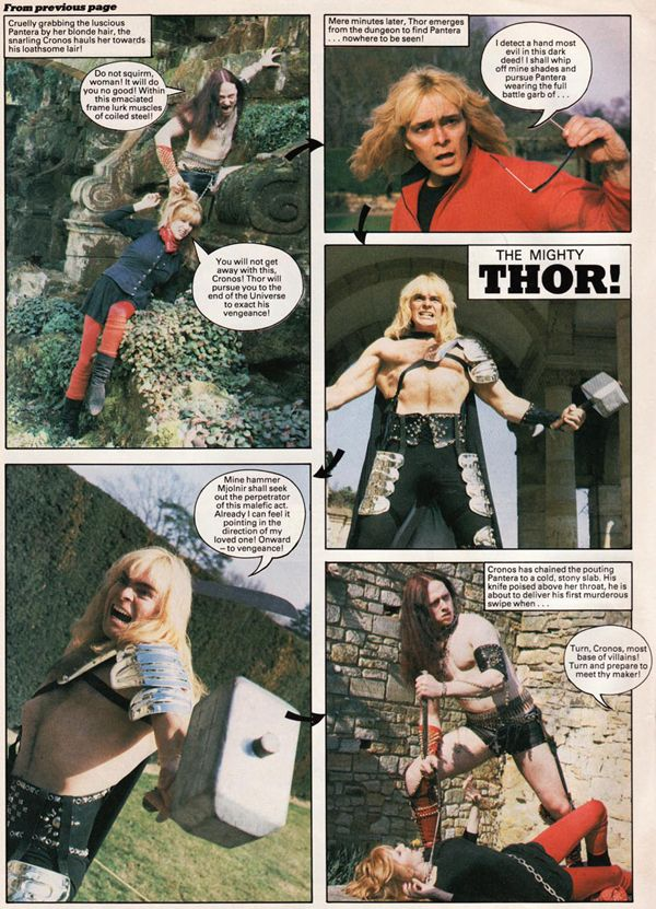 THOR vs. CRONOS of VENOM; Vintage 1984 photo-comic posted online