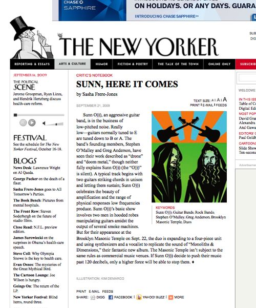 SUNN O))) vs New Yorker