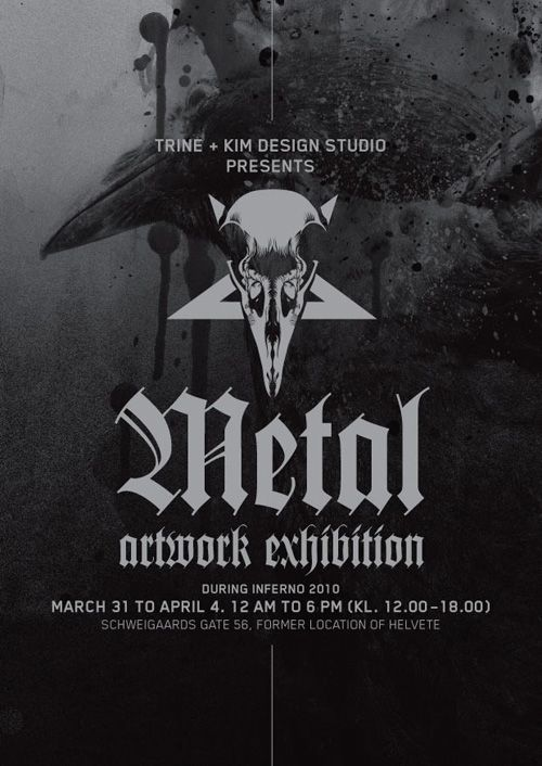 TKDS artwork exhibition during the Inferno festival