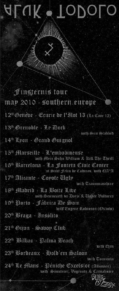 ALUK TODOLO Finsternis EU tour May 2010