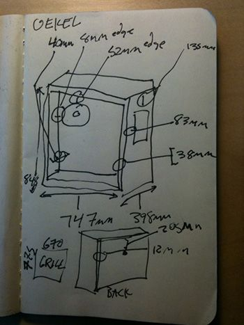 Oekel cabinet dimension drawing