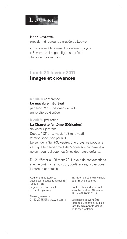 "Victor Sjöström's ""Körklaren"" (""La Charrette fantôme"") @ Louvre Paris w/ soundtrack by KTL"
