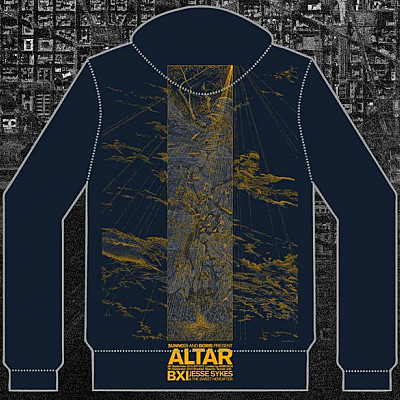 ALTAR HOODIE NOW AVAILABLE ON NAVY BLUE from DAYAFTERPRINTS