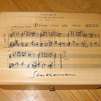 Stockhausen Zodiac music boxes (3rd series)