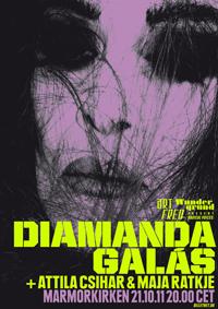Attila Csihar supports Diamanda Galas in Copenhagen 21st October 0211