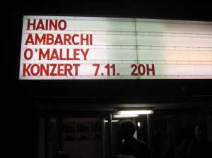 Haino / Ambarchi / O'Malley in Hebbel am Ufer, Berlin, 7 November 2011