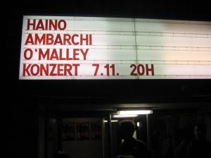 Haino / Ambarchi / O'Malley in Hebbel am Ufer, Berlin, 7 November 2011