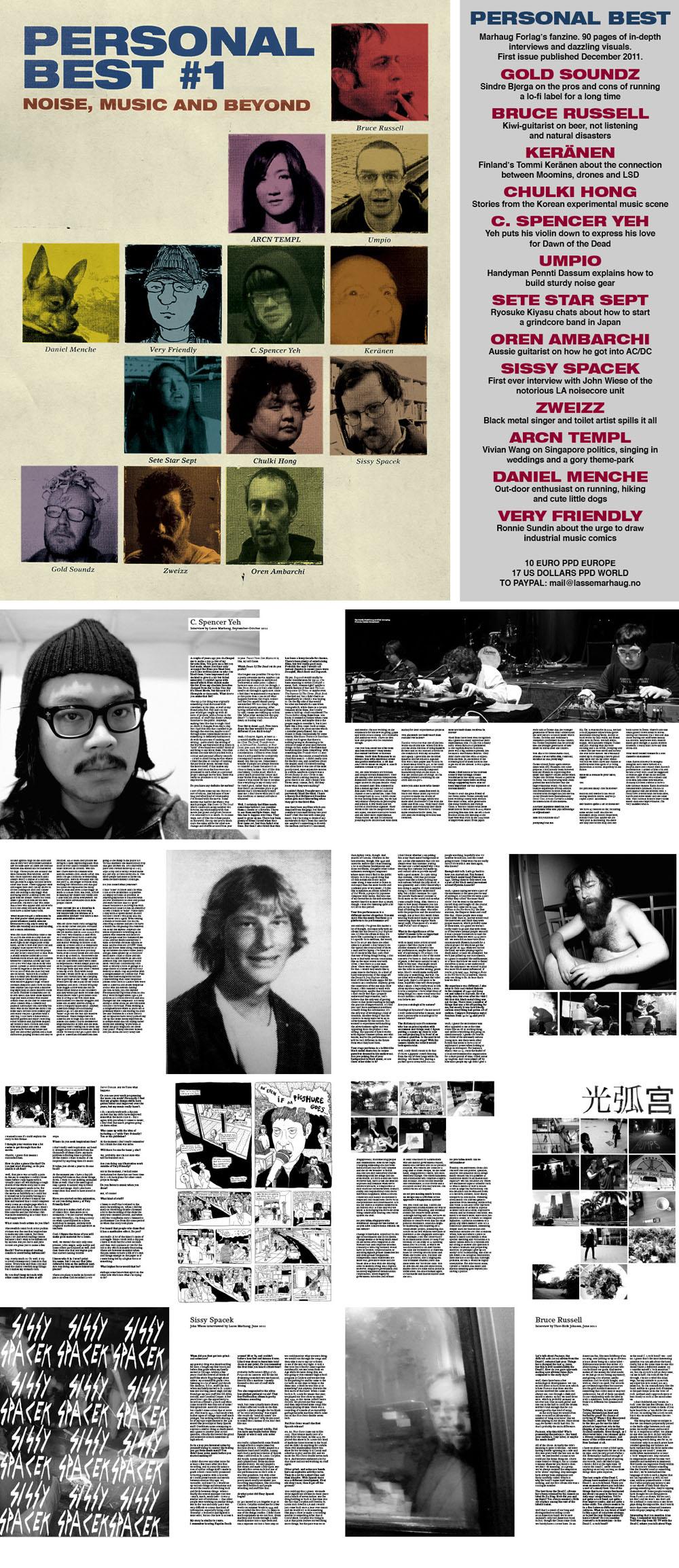 "Lasse Marhaug's ""Personal Best"" fanzine #1 released"