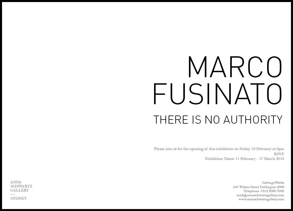 Marco Fusinato new art show