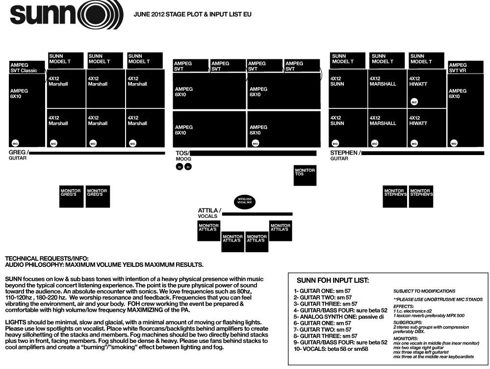 SUNN O))) revised UK/EU dates June 2012