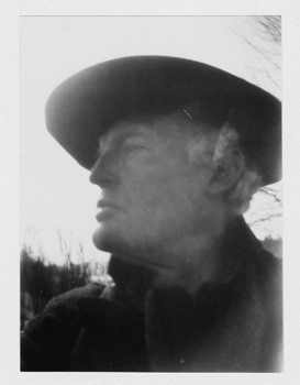 """Edvard Munch, """"Self-Portrait with Hat (Right Profile) at Ekely,"""" 1930"""