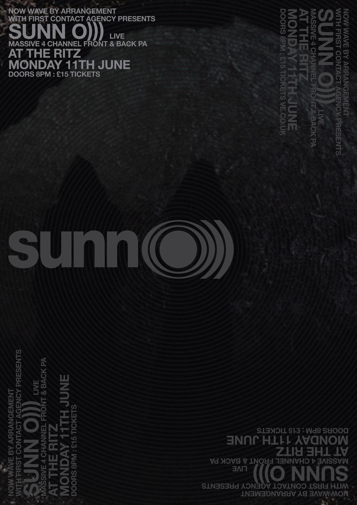 SUNN O))) Manchester June 2012 poster
