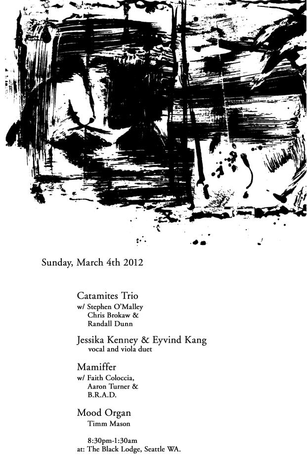 CATAMITES in Seattle w/ Kang & Kenney, Mamiffer, Timm Mason @ Black Lodge 4th March
