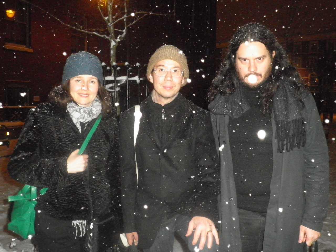 Nice snowy moment in London with Jessika Kenney & Eyvind Kang
