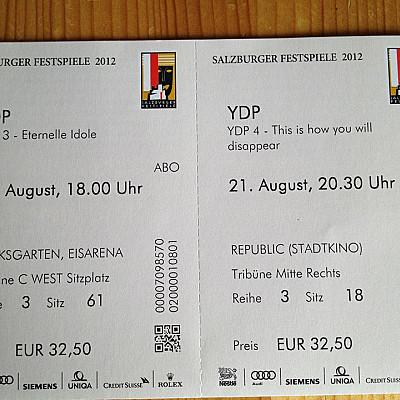 Gisèle Vienne program at Salzburger Festspiele 2012