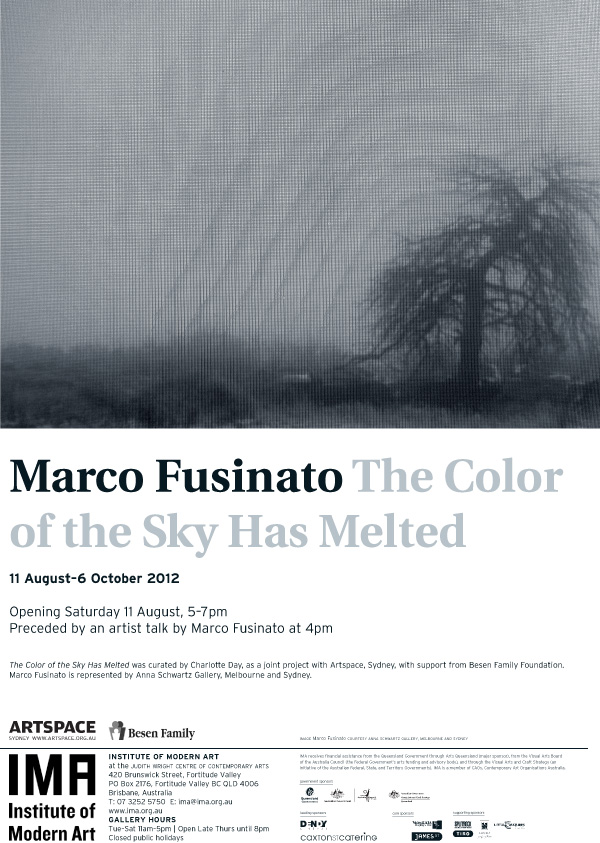 """Marco Fusinato """"The Color Of The Sky Has Melted"""""""