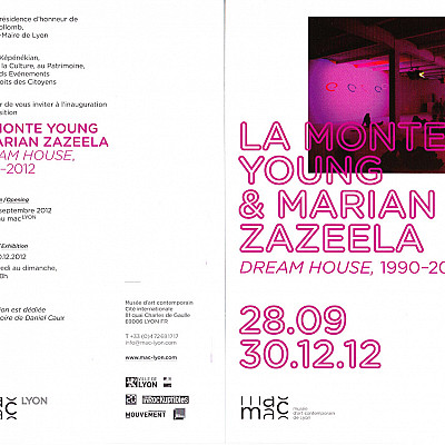 "La Monte Young ""Dream House 1990-2012"" @ MAC, Lyon through 30th December"