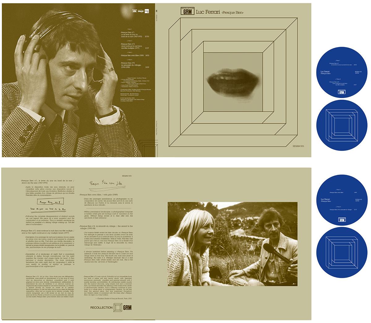 REGRM005 Luc Ferrari & REGRM006 Ivo Malec vinyl designs