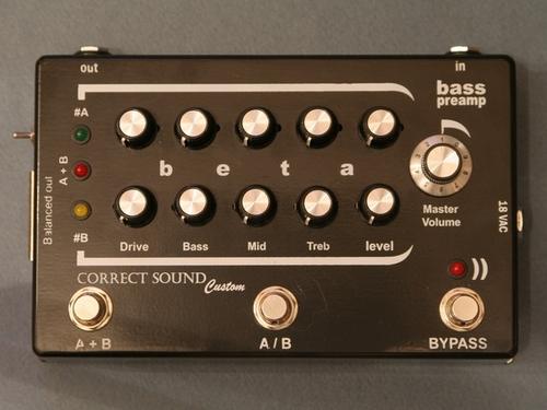 CORRECT SOUND Beta Bass preamp pedal