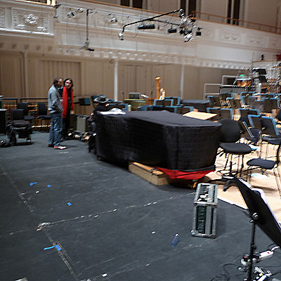 BBC Glasgow concerto project with Iancu Dumitrescu, first rehearsal; evidence and education