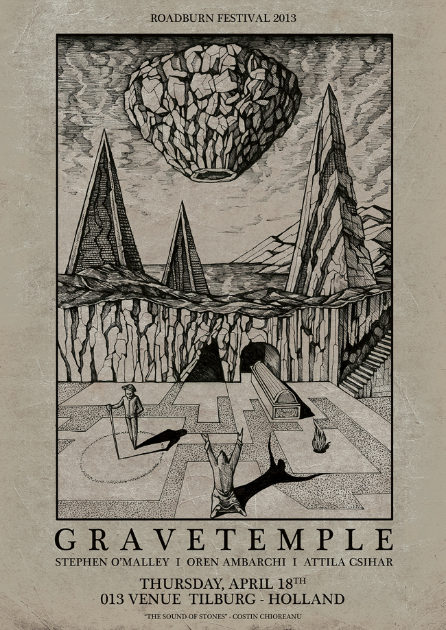 GRAVETEMPLE at Roadburn poster by Costin Chioreanu