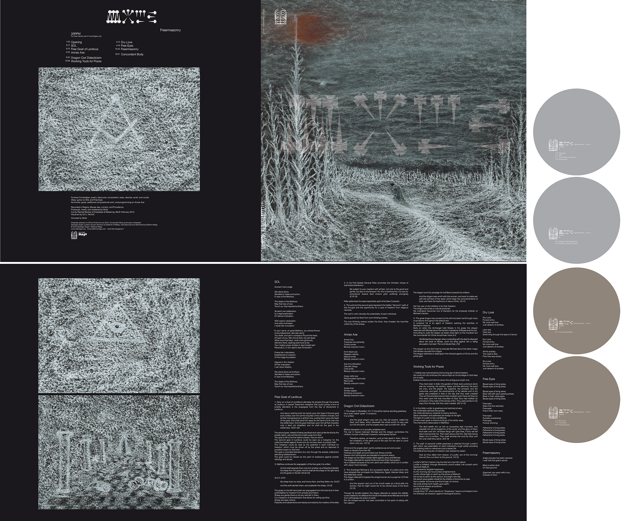 "SOMA014 WOLD ""Freermasonry"" 2LP design"