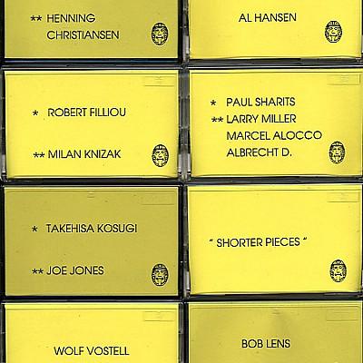 Fluxus Anthology 30th Anniversary 1962-1992 Sound Events