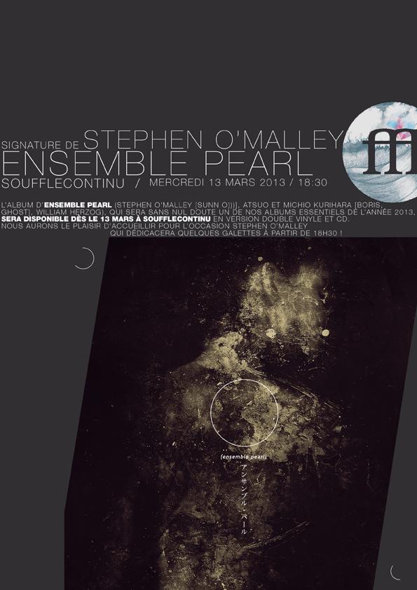 ENSEMBLE PEARL sortie de l'album / signature au SOUFFLE CONTINU / PARIS Mercredi 13 2013