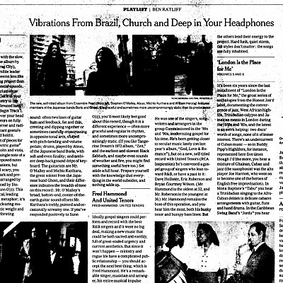 ENSEMBLE PEARL reviewed in New York Times