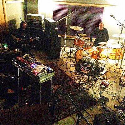 "GRAVETEMPLE ""Cosmic Urn"" Orgone Studio London recording session shots"