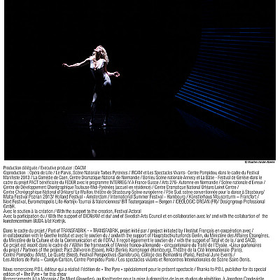 "Gisèle Vienne ""The Pyre"" (creation 2013 with score by KTL in collaboration with IRCAM) newsletter"