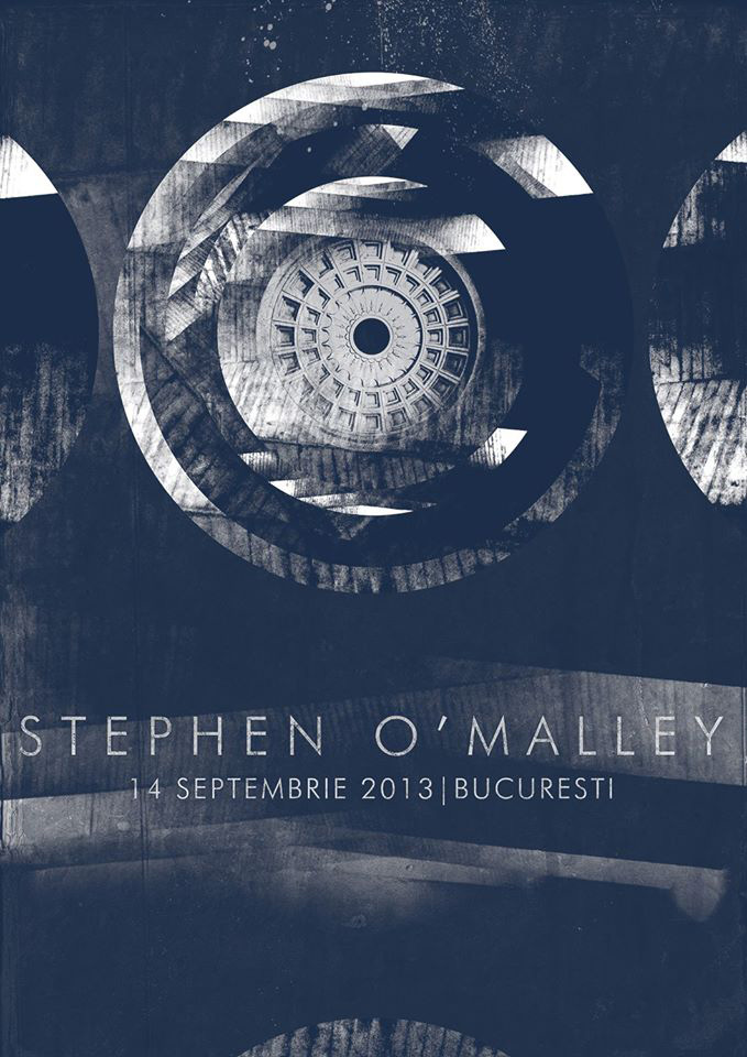 Stephen O'Malley solo concert in Bucharest/Club Control 14th September 2014 flyer