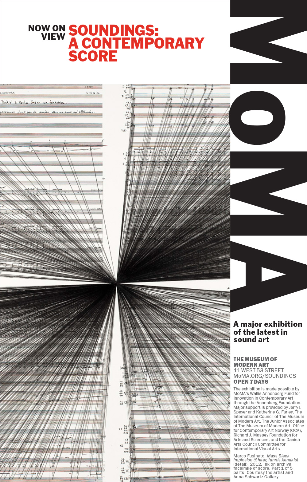 Soundings: A Contemporary Score exhibition @ MOMA, NYC, with Marco Fusinato artwork (and on the main poster!)