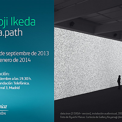 "RYOJI IKEDA SOLO EXHIBITION "" data.path "" at Telefonica Foundation, Madrid, ES"