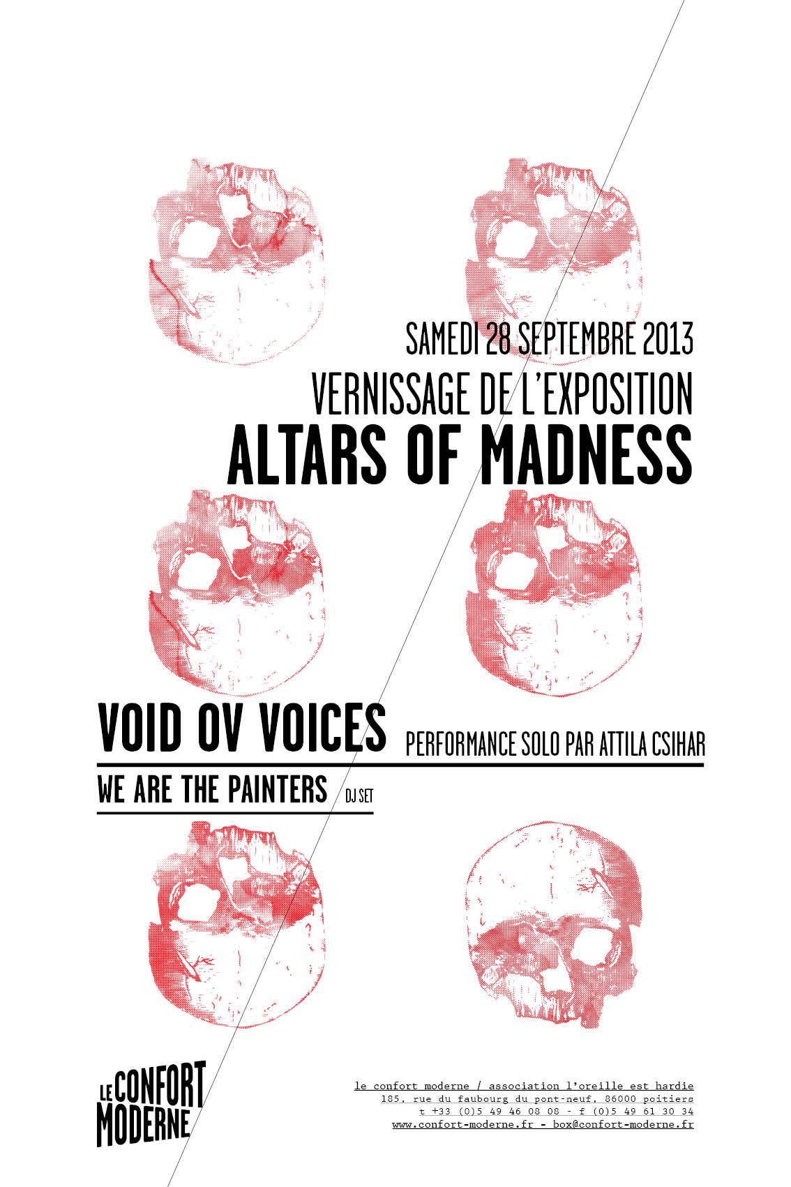 Vernissage ALTARS OF MADNESS au CONFORT MODERNE (Poitiers) ce samedi 28 septembre
