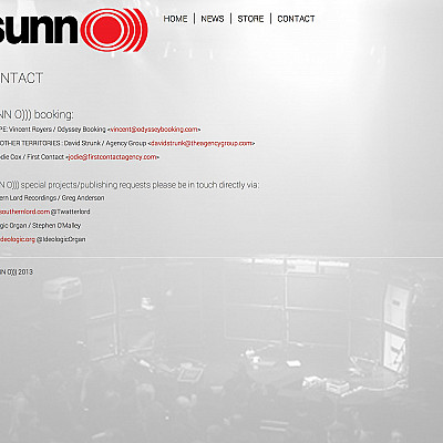 SUNN O))) Website/webstore launched