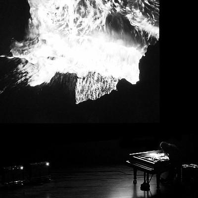 "Bouschet & Hilbert's ""Tempestarii"" premiere feedback piano performance pic / Dumitrescu score excerpt"