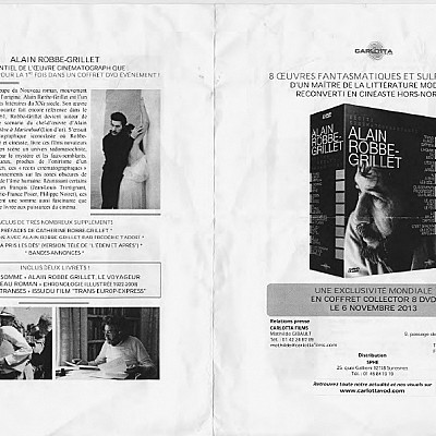 Alain Robbe-Grillet DVD boxed set released this month on Carotta films